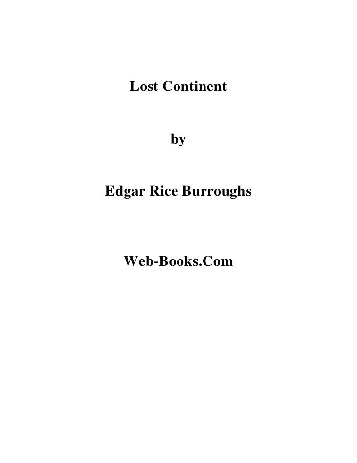Lost Continent           by   Edgar Rice Burroughs      Web-Books.Com