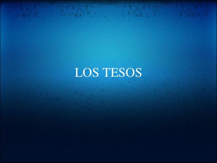 LOS TESOS