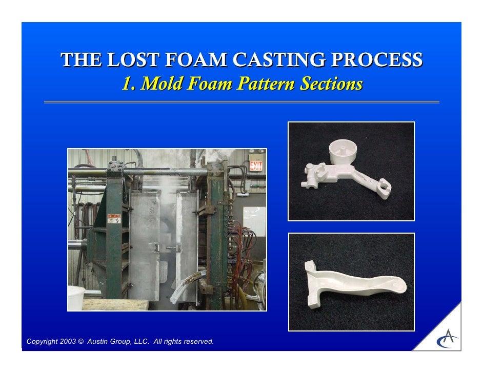 Lost foam cast process