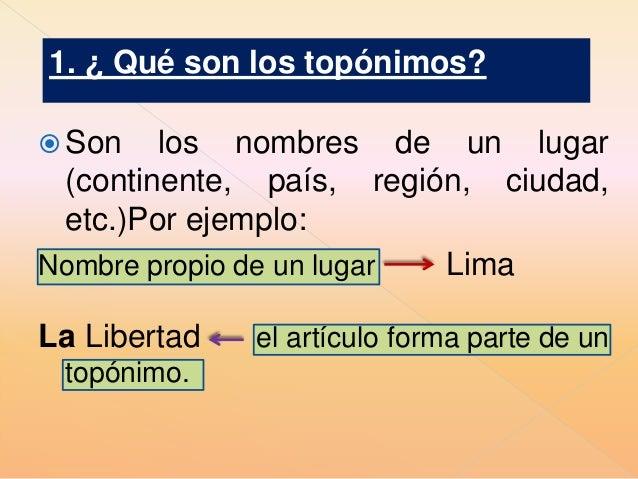 Q Son Los Lemures Los topónimos y l...