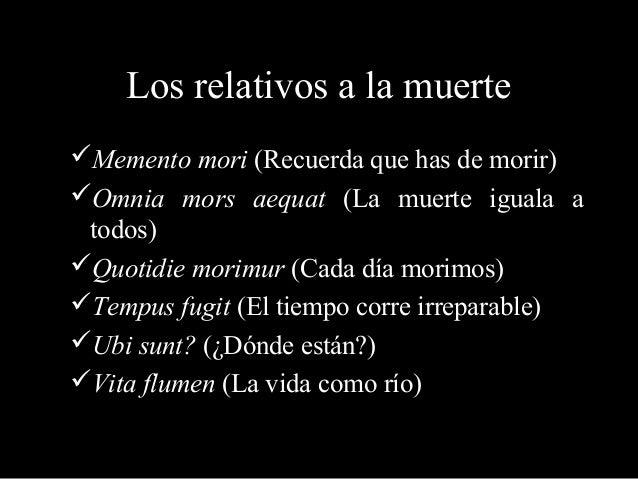 Los t picos literarios for Frases de memento