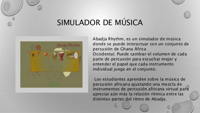 SIMULADOR DE MÚSICA Abadja Rhythm, es un simulador de música donde se puede interactuar con un conjunto de percusión de Gh...
