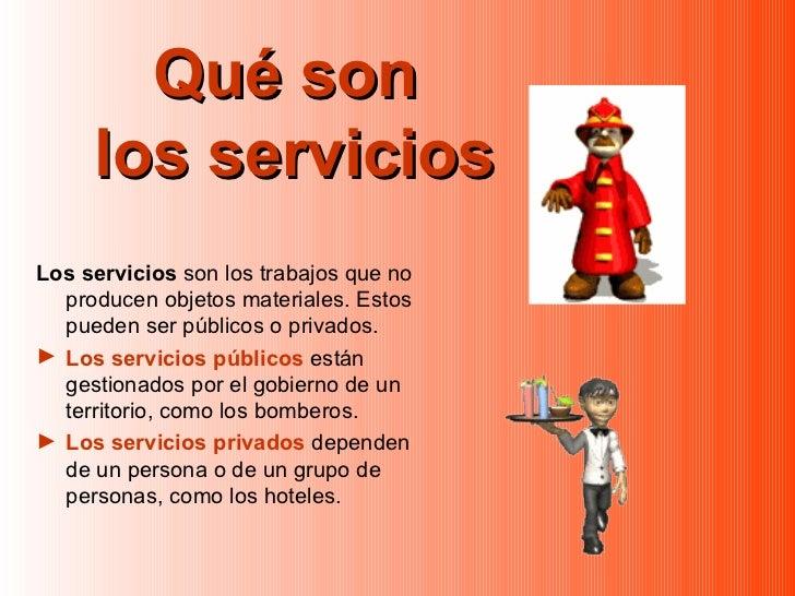 los trabajos y los servicios unidad 13