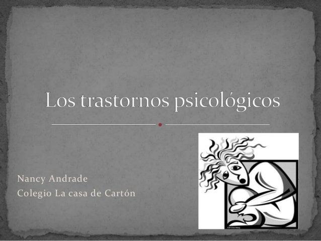 Nancy Andrade Colegio La casa de Cartón