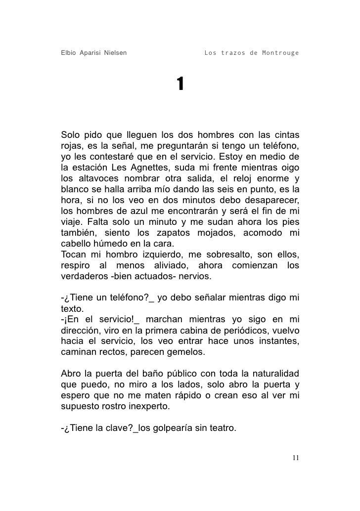 Elbio Aparisi Nielsen              Los trazos de Montrouge                                 1  Solo pido que lleguen los do...