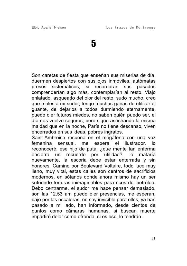 Elbio Aparisi Nielsen              Los trazos de Montrouge                                 5   Son caretas de fiesta que e...