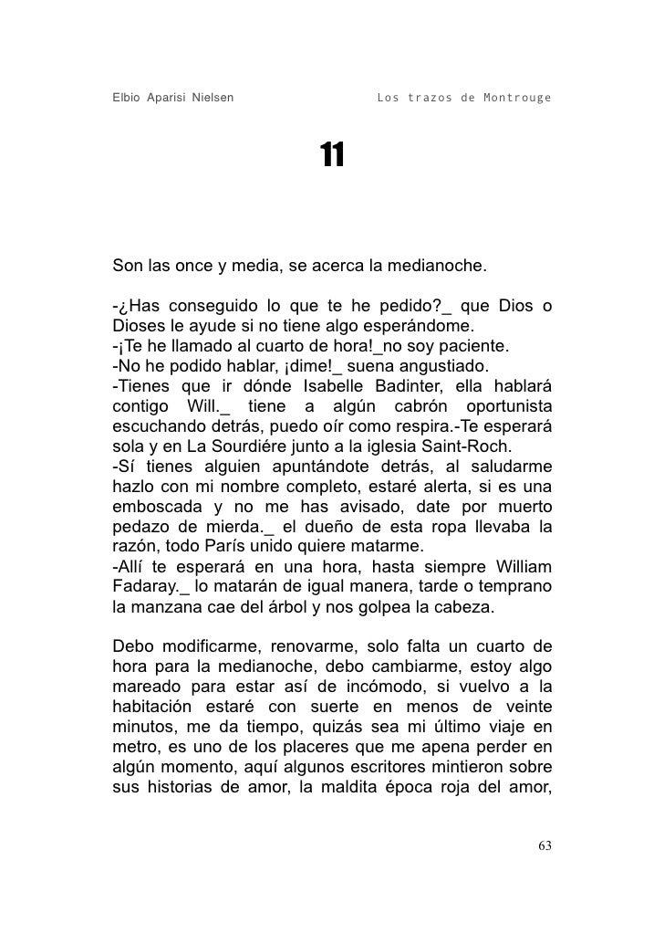 Elbio Aparisi Nielsen           Los trazos de Montrouge                              11   Son las once y media, se acerca ...