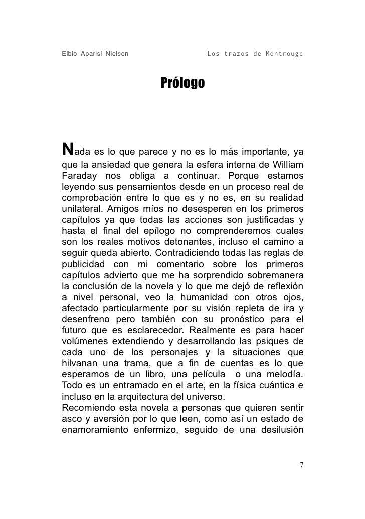 Elbio Aparisi Nielsen             Los trazos de Montrouge                            Prólogo    Nada es lo que parece y no...