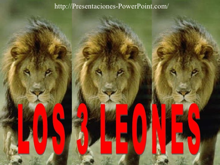 LOS 3 LEONES http://Presentaciones-PowerPoint.com/