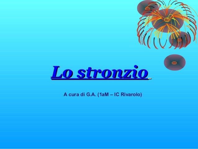 Lo stronzioLo stronzioA cura di G.A. (1aM – IC Rivarolo)