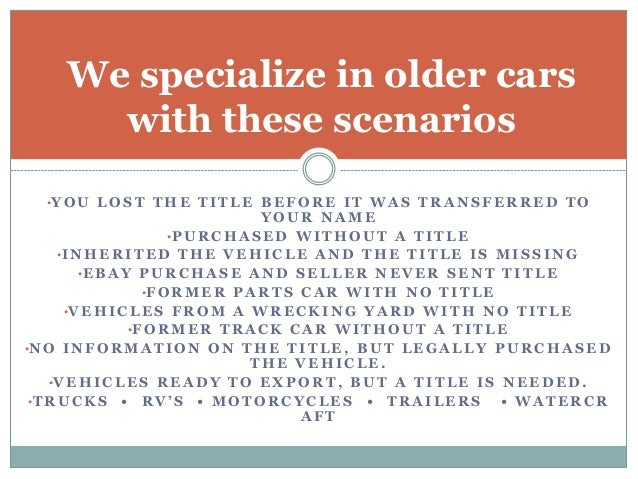 Lost Title Solutions Car Title Search