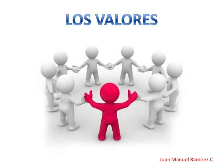 LOS VALORES<br />Juan Manuel Ramírez C.<br />