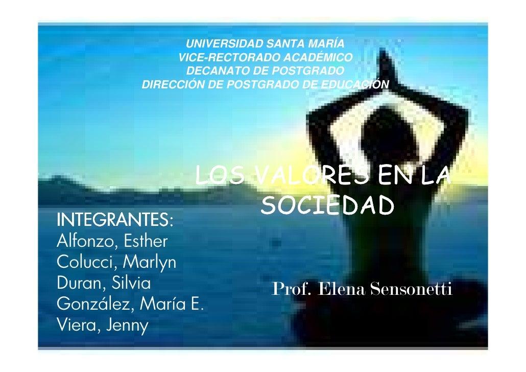 UNIVERSIDAD SANTA MARÍA               VICE-RECTORADO ACADÉMICO                 DECANATO DE POSTGRADO          DIRECCIÓN DE...