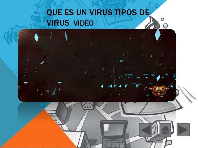 QUE ES UN VIRUS TIPOS DE  VIRUS VIDEO
