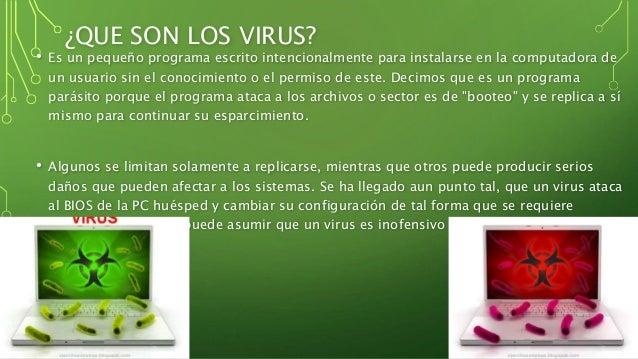 Los virus informáticos Slide 3