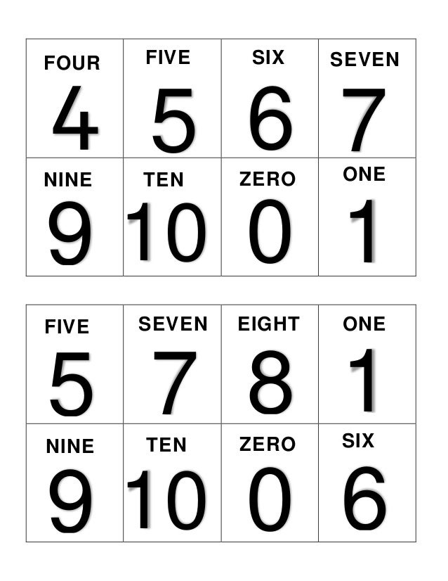 5 FIVE ONE 6 7 SIX SEVEN 1 ONE 5 FIVE ONE 7 SEVEN 8 EIGHT ONE 1 ONE 4 FOUR ONE 0 ZERO 9 NINE ONE 10 TEN ONE 0 ZERO 9 NINE ...