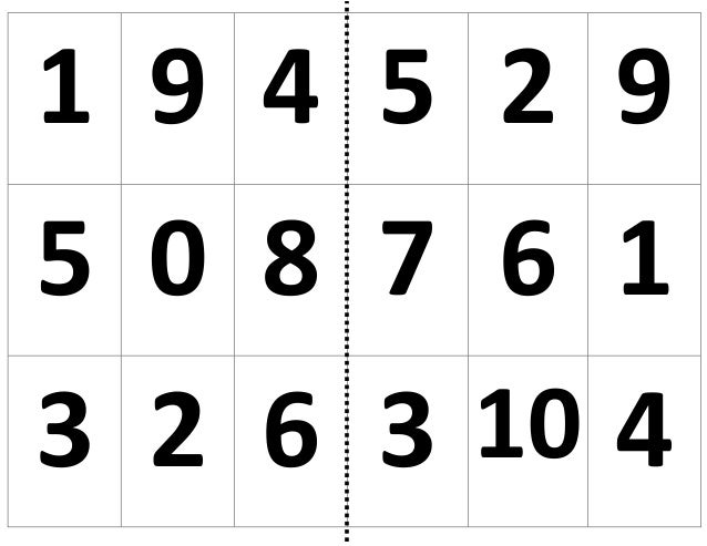 1 9 4 5 2 95 0 8 7 6 13 2 6 3 10 4