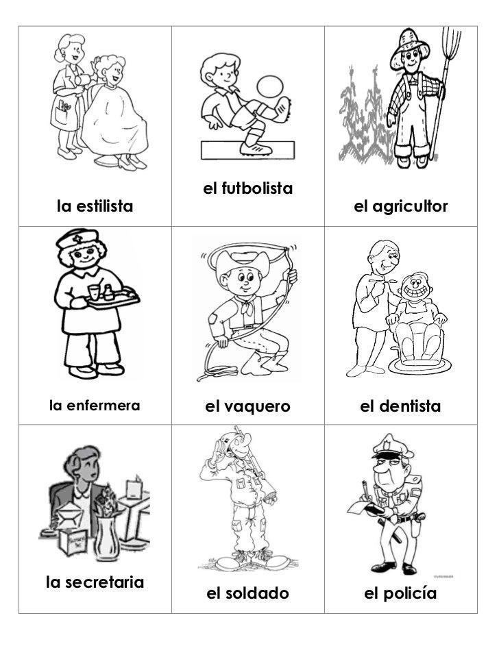 Loteria oficios y profesiones for El dibujo de los arquitectos pdf
