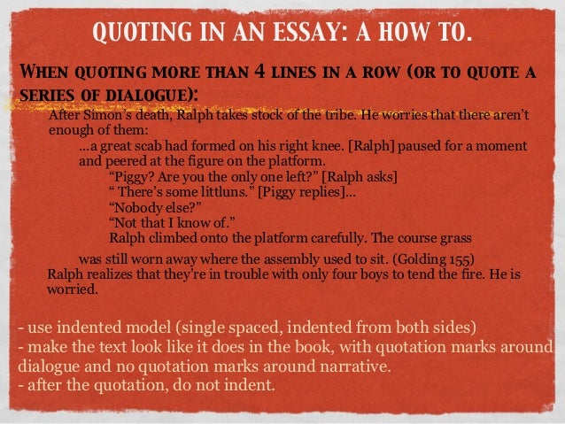 Suggested ways to introduce quotations