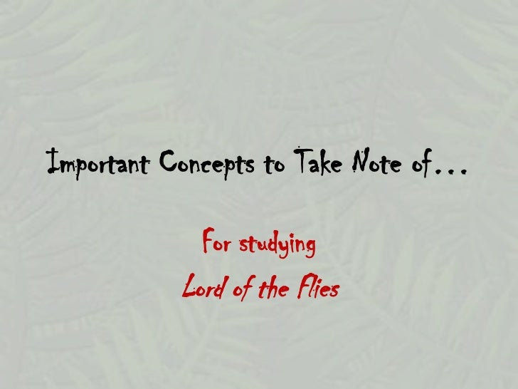 lord of the flies intro Basic introductory materials for the novel lord of the flies by william golding.