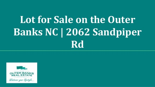Lot for Sale on the Outer Banks NC | 2062 Sandpiper Rd