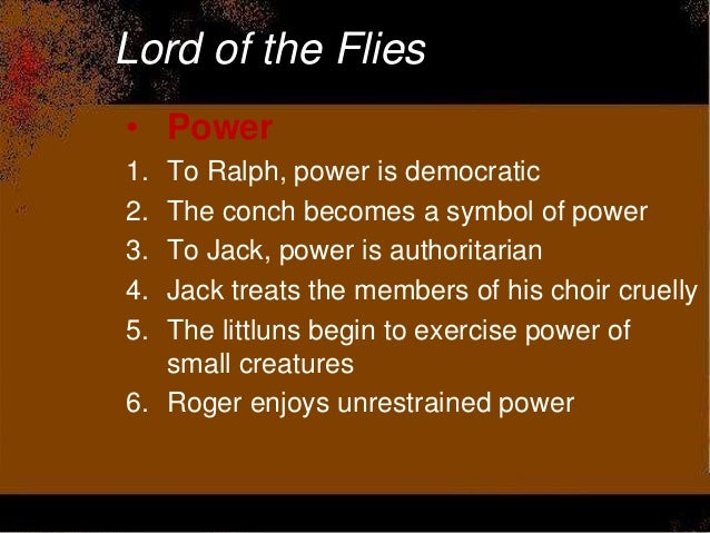 an analysis of the power struggle in lord of the flies by william golding Notes on lord of the flies / in answer to a publicity questionnaire from the american publishers of lord of the flies, william golding (born cornwall, 1911) declared that he was  the struggle .