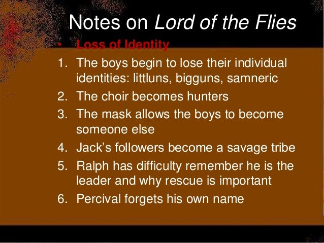 lotf test review lord of the flies themes imagery savagery loss of identity and innocence 31