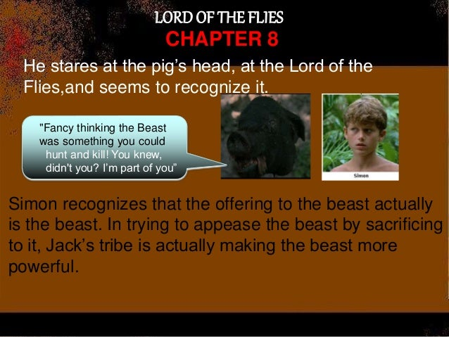 lord of the flies chapter 8 A secondary school revision resource for gcse english literature about the plot of william golding's lord of the flies chapter 8 - a gift for the darkness.