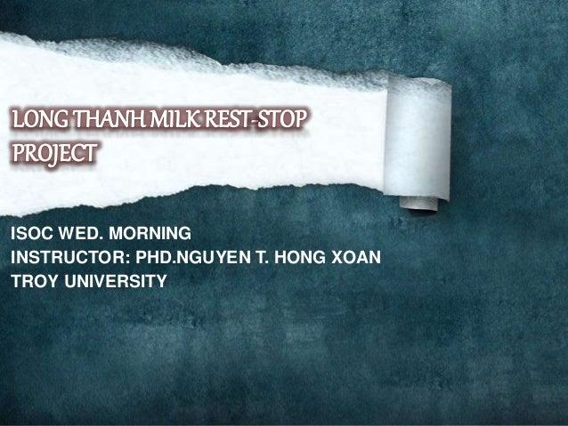ISOC WED. MORNING INSTRUCTOR: PHD.NGUYEN T. HONG XOAN TROY UNIVERSITY