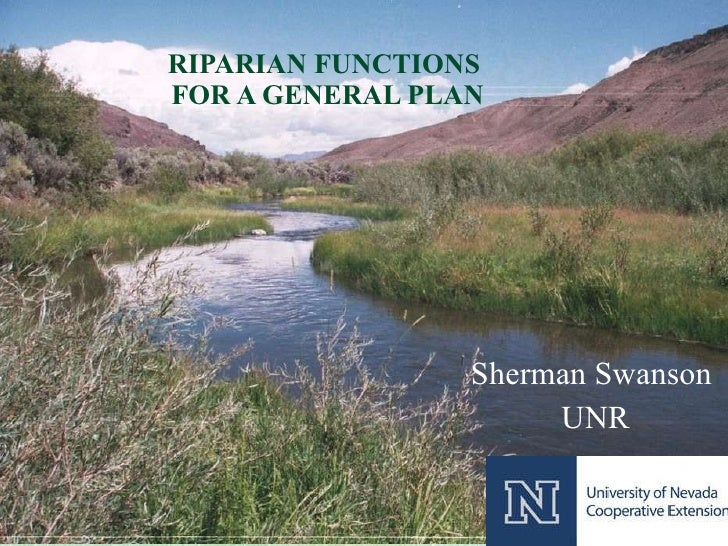 RIPARIAN FUNCTIONS  FOR A GENERAL PLAN Sherman Swanson UNR