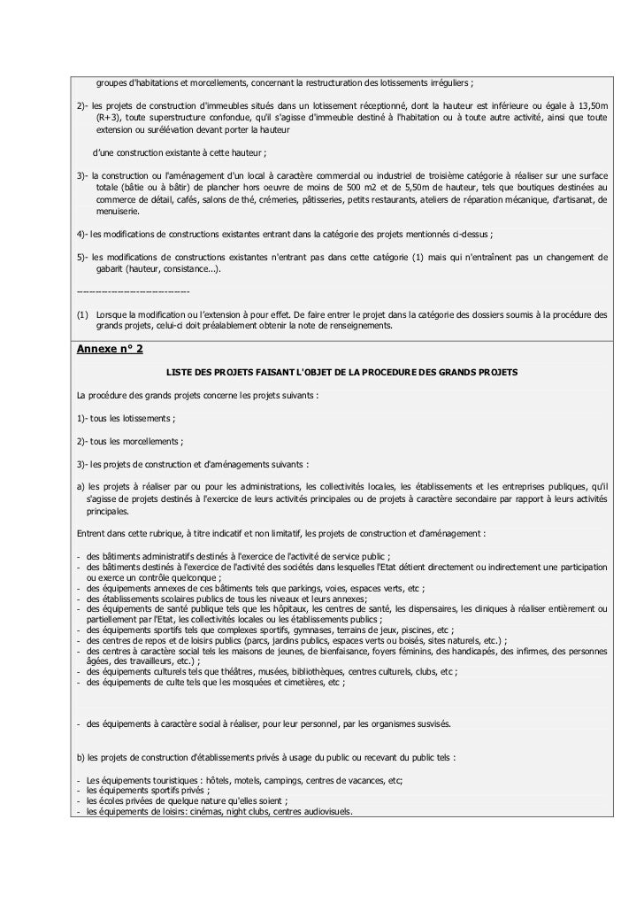 Autorisation De Lotir