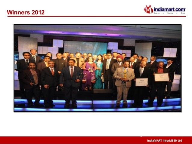 IndiaMART InterMESH Ltd © Winners 2012