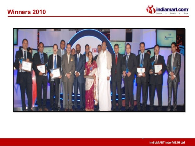 IndiaMART InterMESH Ltd © Winners 2010