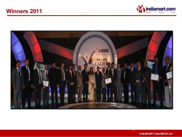 IndiaMART InterMESH Ltd © Winners 2011