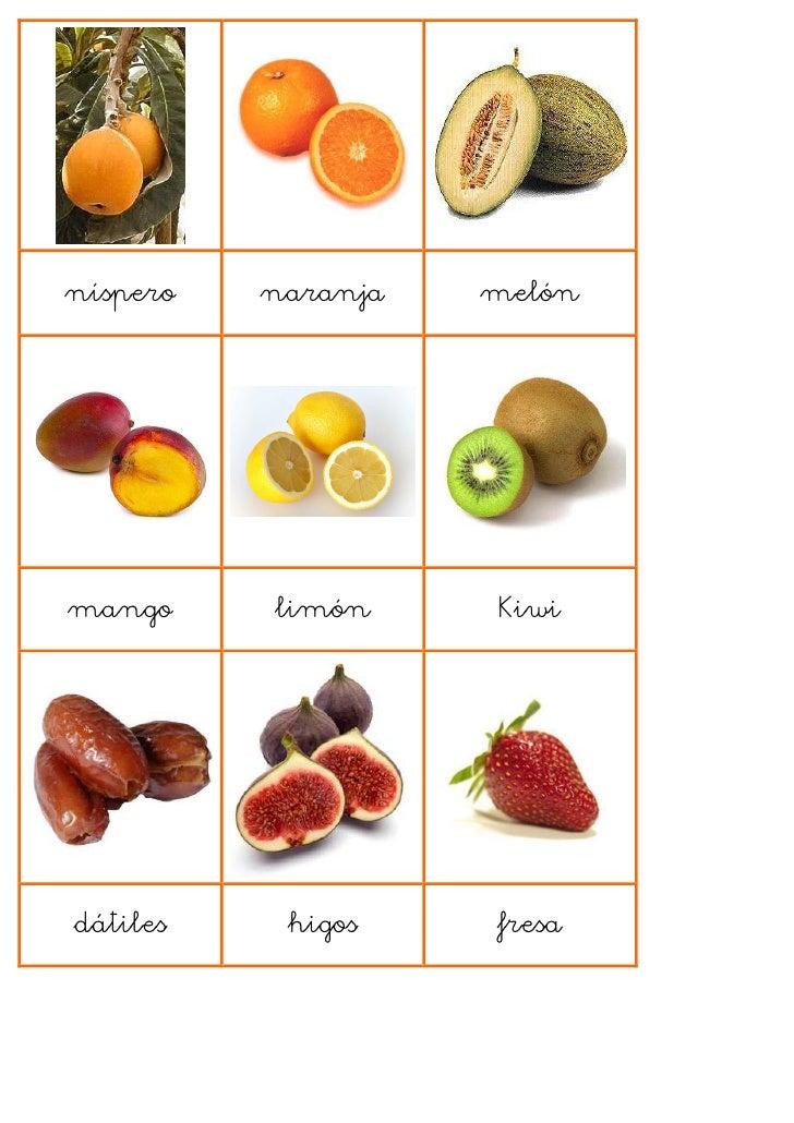 loto frutas en fichas