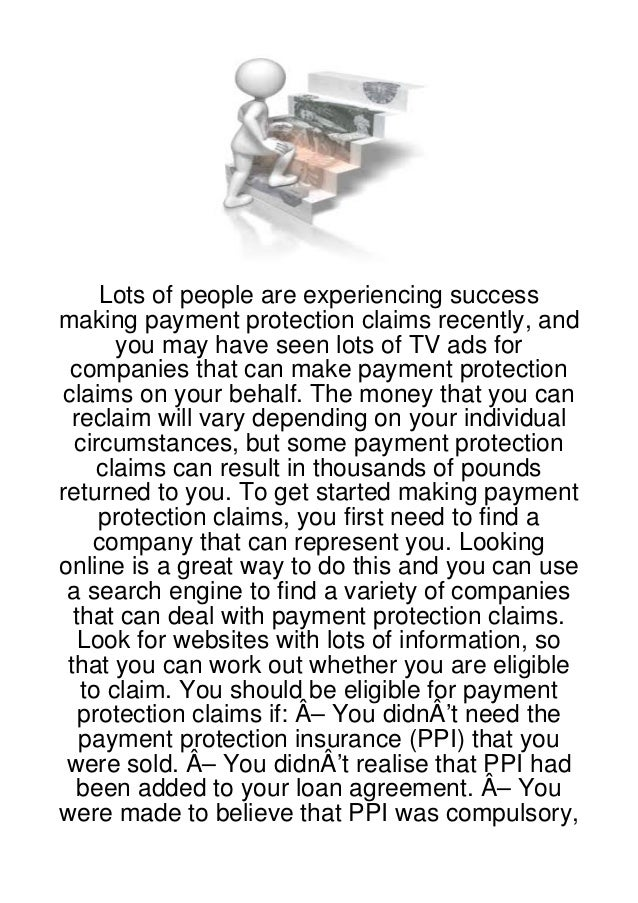 Lots of people are experiencing successmaking payment protection claims recently, and       you may have seen lots of TV a...