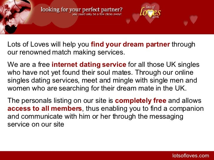 free on line dating and match making services