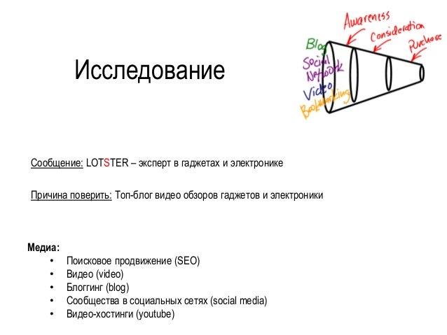 Исследование  Сообщение:LOTSTER–эксперт в гаджетахи электронике  Причина поверить:Топ-блогвидеообзоров гаджетови электрони...