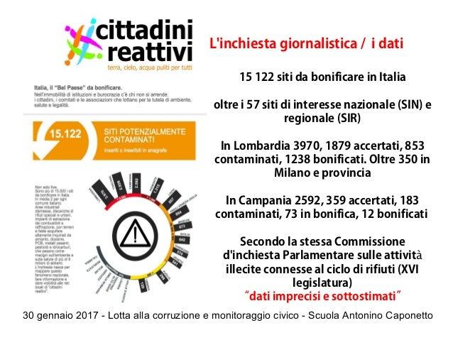 30 gennaio 2017 - Lotta alla corruzione e monitoraggio civico - Scuola Antonino Caponetto L'inchiesta giornalistica / i da...