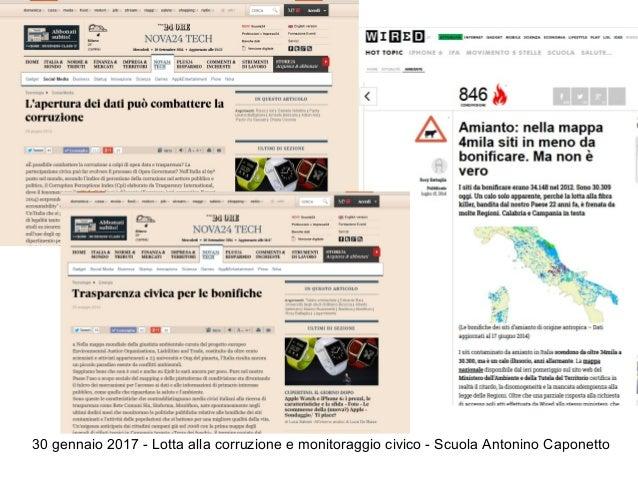 30 gennaio 2017 - Lotta alla corruzione e monitoraggio civico - Scuola Antonino Caponetto