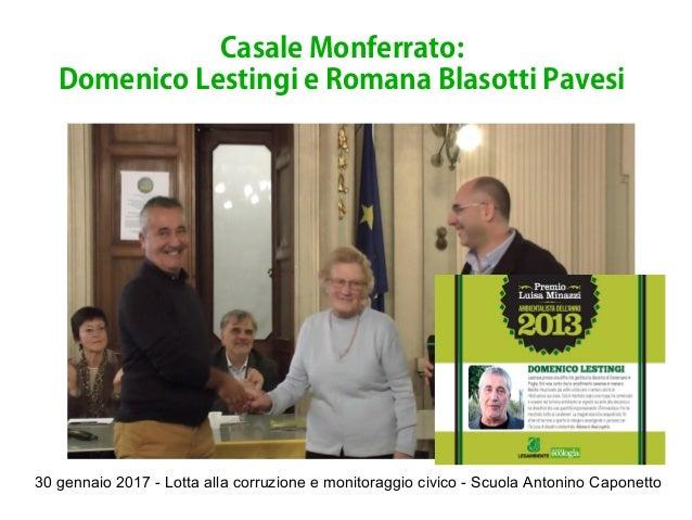 30 gennaio 2017 - Lotta alla corruzione e monitoraggio civico - Scuola Antonino Caponetto Casale Monferrato: Domenico Lest...