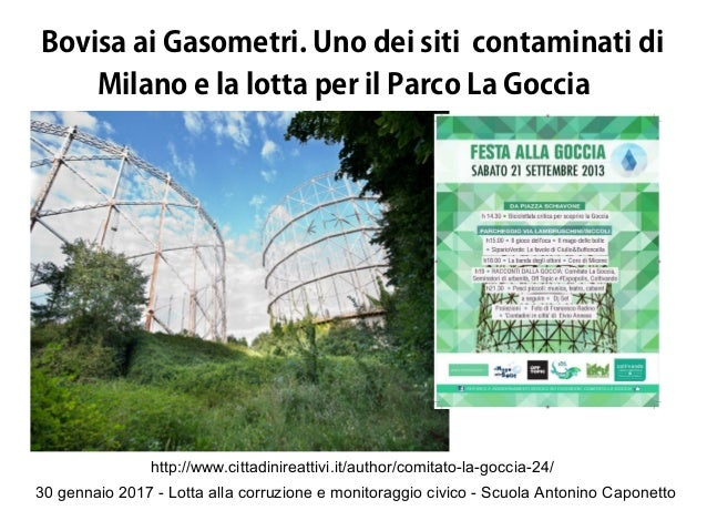 30 gennaio 2017 - Lotta alla corruzione e monitoraggio civico - Scuola Antonino Caponetto Bovisa ai Gasometri. Uno dei sit...
