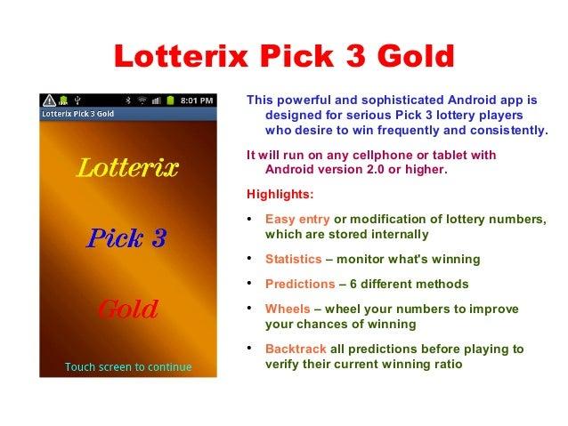 Lotterix pick 3 gold