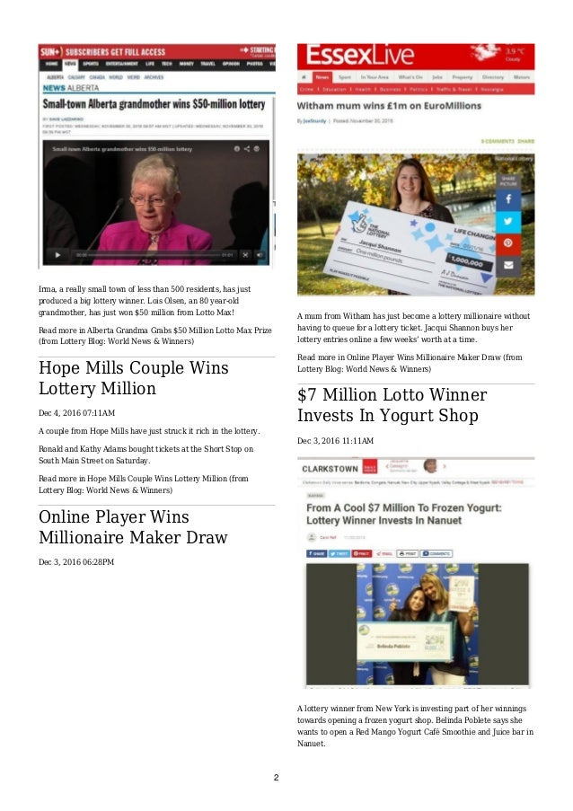 Lottery Blog Newspaper (7th December 2016) Slide 2