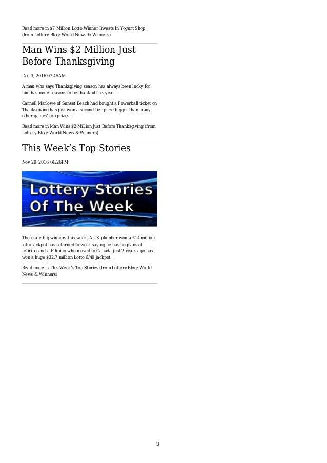 Lottery Blog Newspaper (7th December 2016) Slide 3