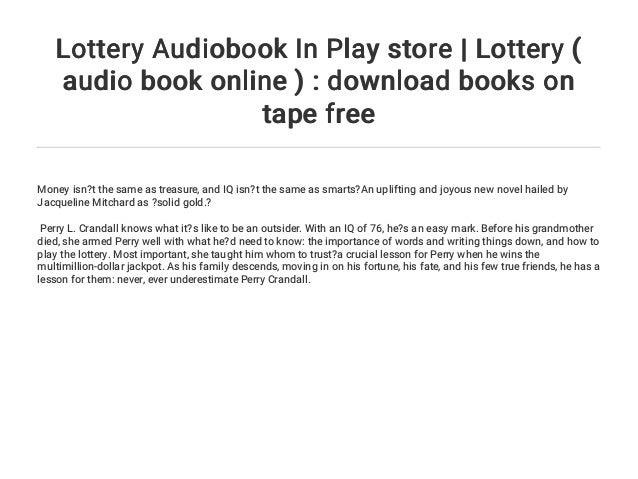 Lottery Audiobook In Play store | Lottery ( audio book online ) : dow…