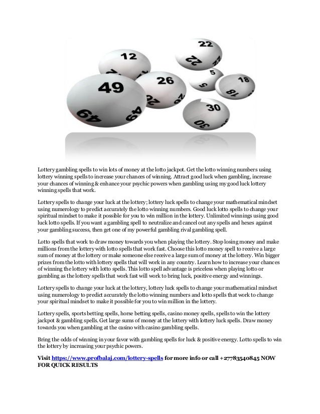 Free Lottery Spells That Work | Spell to Win the Lottery