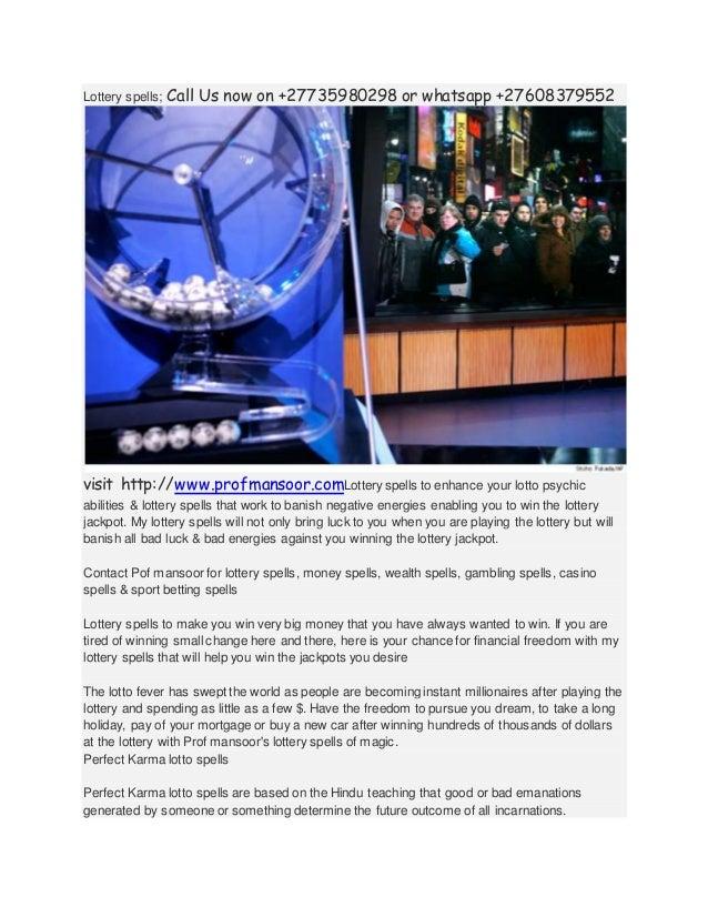 0735980298 Lottery Spells, Win Lottery Spells, Casting Lotto Spell be…