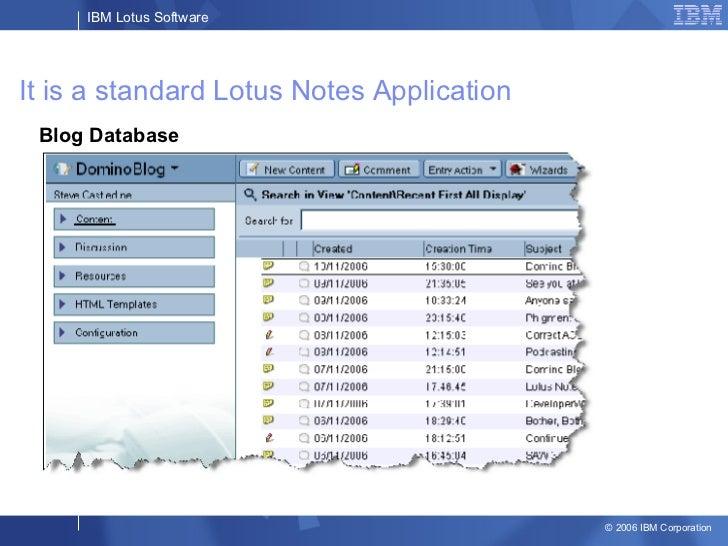 Lotus Notes Blog Template