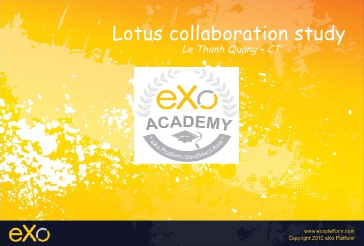 Lotus collaboration study Le Thanh Quang – CT